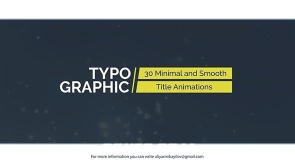 8189-30组文字标题动画AE模版,Typographic – 30 Title Animations
