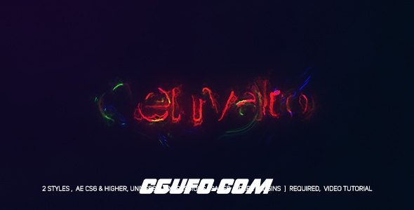 8202电流信号干扰logo演绎动画AE模版,Electric Glitch Logo