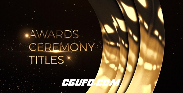 8203颁奖典礼文字标题动画AE模版,Awards Ceremony Titles