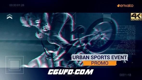 8234动感激情体育视频片头宣传片AE模版,Urban Sport Event Promo