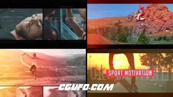 8247动感体育视频开场片头AE模版,Sport Motivation
