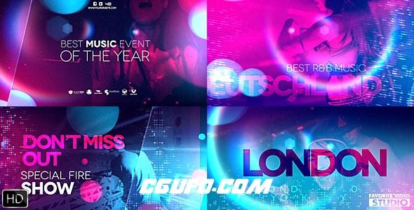 8250酒吧夜店时尚音乐聚会宣传包装AE模版,Ultraviolet Music Party
