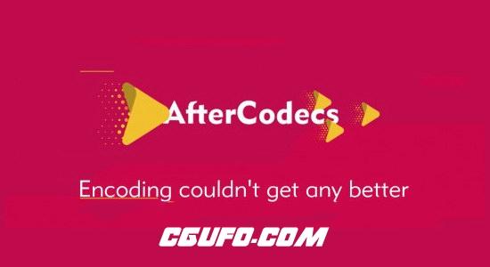 AE插件-特殊编码加速输出渲染插件AEscripts AfterCodecs 1.2.2 支持ProRes H264 H265视频格式